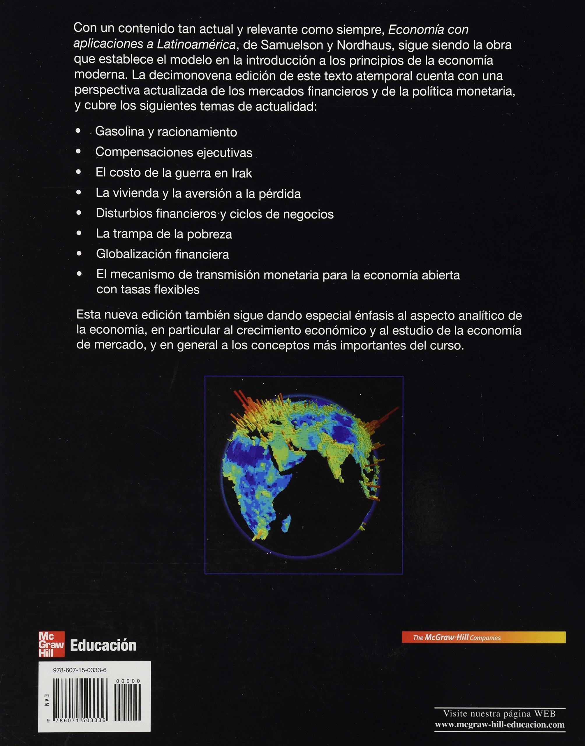 Economia con aplicaciones a latinoamerica paul samuelson y nordhaus w 9786071503336 amazon com books
