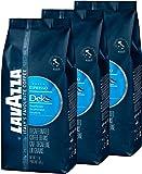 Lavazza Deck Decaf, Coffee, decaffeinated whole Bean Espresso, Caffeine Free, 3 x 500 g