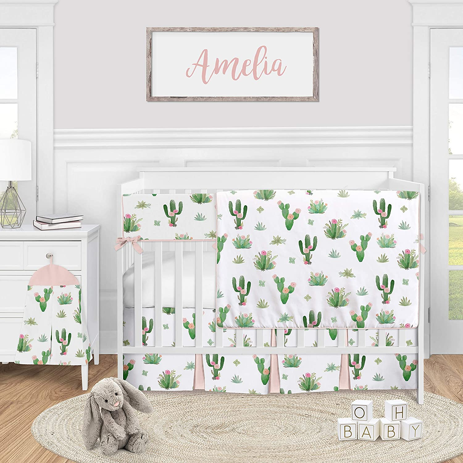 Cactus Crib Sheet Cactus Baby Bedding Baby Gear Nursery Accessories Cactus Changing Pad Cover Boho Cactus Baby Shower Gift