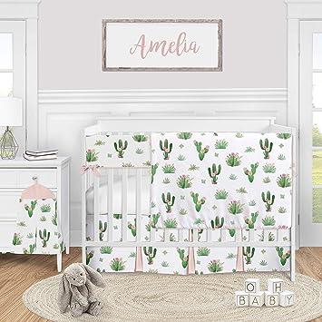 Cactus crib sheet Desert nursery Prickly pear crib sheet Baby bedding Cactus boppy cover Cactus theme baby shower Southwest nursery