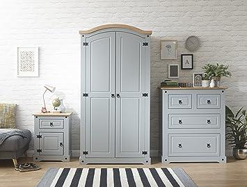 Right Deals Uk Grau Corona Schlafzimmer Mobel Set Kleiderschrank