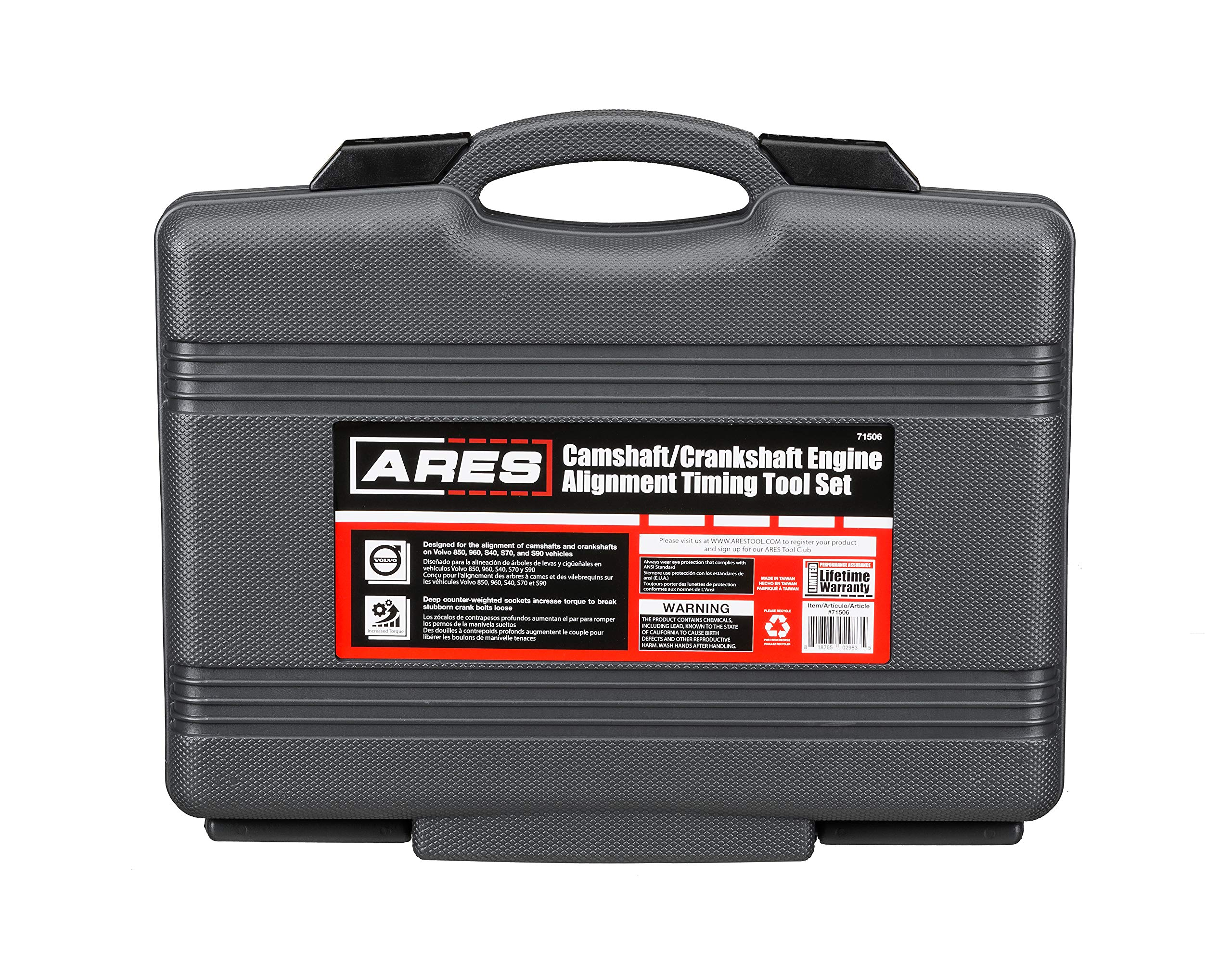 ARES 71506 | Volvo Camshaft, Crankshaft, and Timing Alignment Master Tool Set | Deep Counter-Weighted Sockets for Increased Torque | Correctly Install Camshafts with Cam Cover by ARES (Image #5)