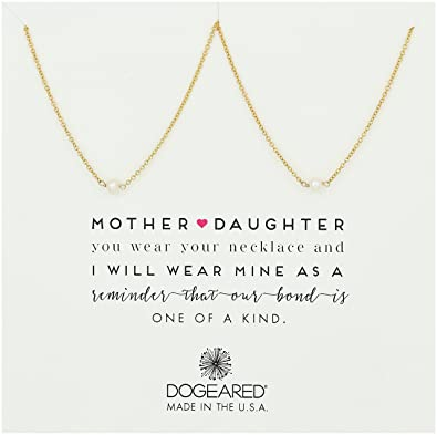 "488c00bdea954c Dogeared Mother & Daughter 2 Small Pearl Necklaces Gold Dipped Chain  Necklace, 18"" +"