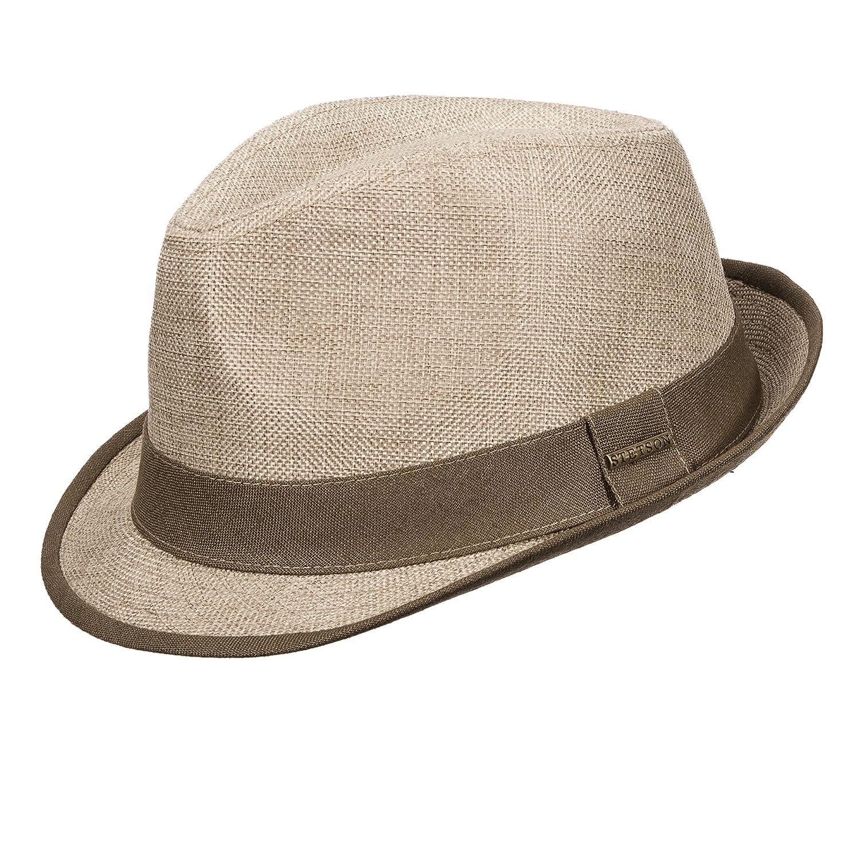 Stetson Men s Linen Textured Fedora Hat (L 74f490419fa