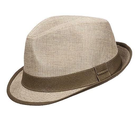 ff33b30d37f Stetson Men s Linen Textured Fedora Hat (L