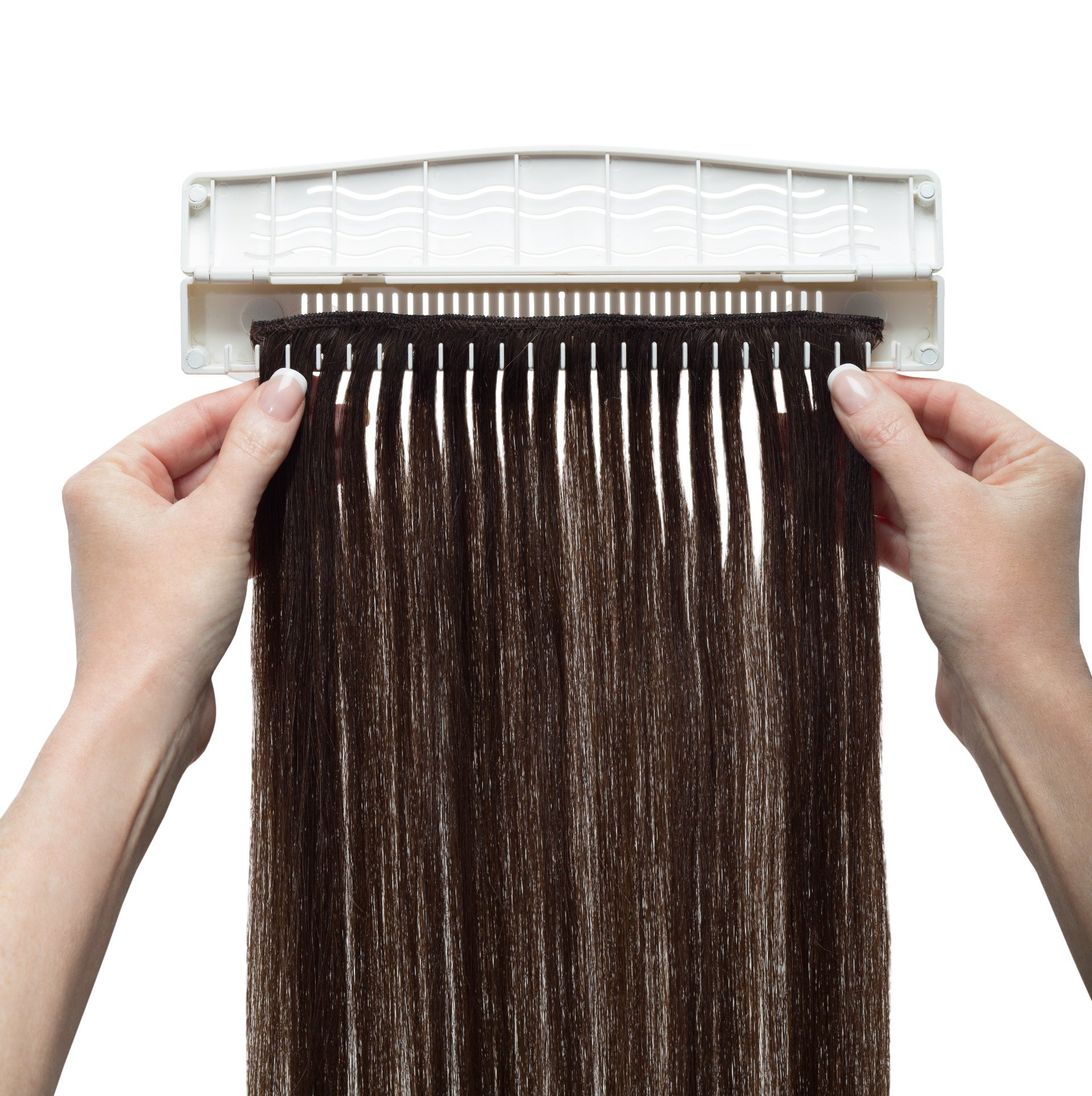 Hair Works 4-in-1 Hair Extension Style Caddy - Lightweight, Waterproof and Portable, This Hair Extension Holder Is Designed To Securely Hold Your Extensions While You Wash, Style, Pack and Store Them by Hair Works (Image #2)