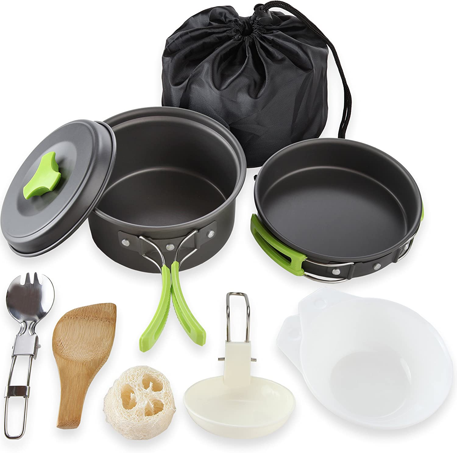 Camping Cookware Mess Kit 10-Piece