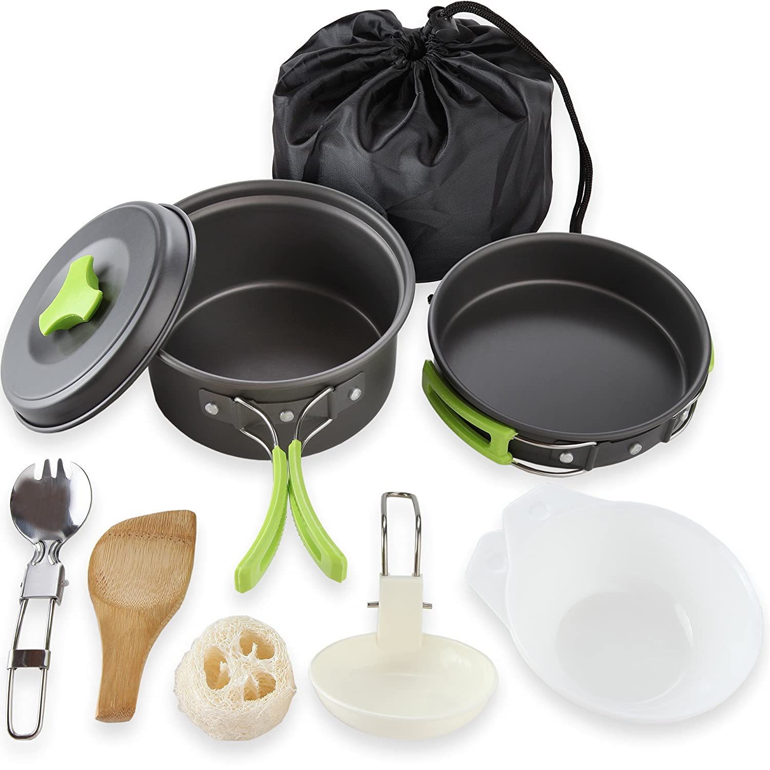 Amazon.com : Camping Cookware Mess Kit Backpacking Gear & Hiking ...