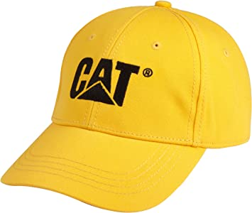 CAT Workwear Mens Trademark Branded Adjustable Canvas Logo Cap Hat ...