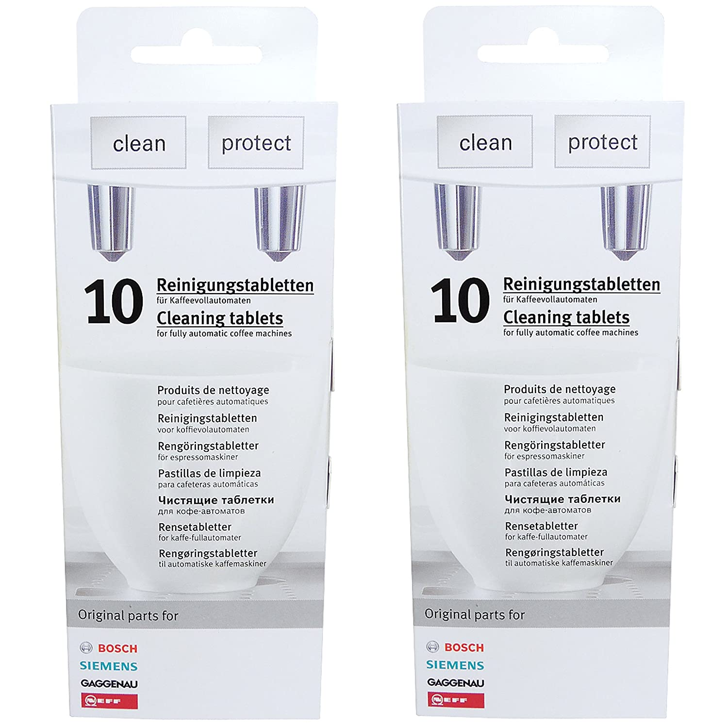 2 Pack of Cleaning Tablets for Coffee Machines Siemens/Bosch/Neff/Gaggenau – 00311769 Replaces TZ60001,310575, TCZ6001