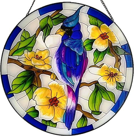 House stained glass window hanging suncatcher