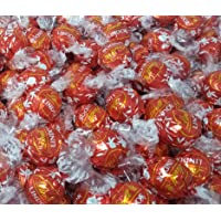 CrazyOutlet Lindt Lindor Milk Chocolate Truffles Candy, Red Wrap Mothers Day Gift, Bulk Bag, 2 Lbs
