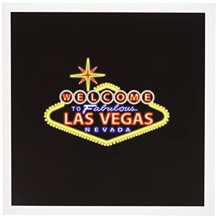 Amazon welcome to fabulous las vegas nevada greeting card 6 welcome to fabulous las vegas nevada greeting card 6 x 6 inches single m4hsunfo