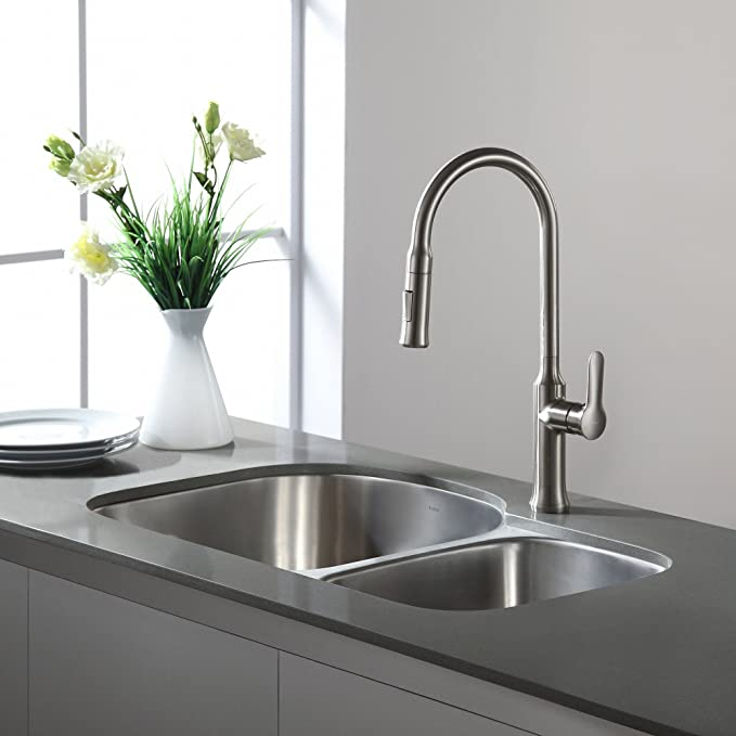 kraus kpf 1630ss nola single lever pull down kitchen faucet rh amazon ca