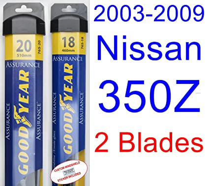 Amazon.com: 2003-2009 Nissan 350Z Replacement Wiper Blade Set/Kit (Set of 2 Blades) (Goodyear Wiper Blades-Assurance) (2004,2005,2006,2007,2008): Automotive