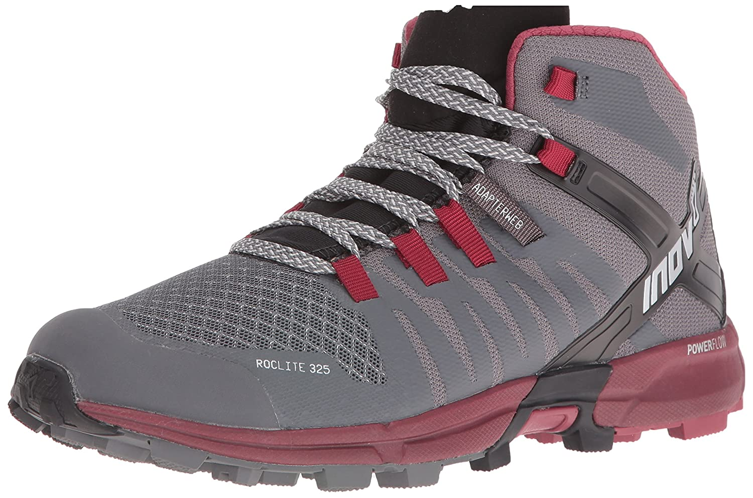 Inov-8 Women's Roclite 325 Trail Runner B01G50OG08 8 D US|Dark Grey/Dark Red