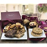 Dulcet Gift Baskets  Scrumptious Assortment of Freshly Baked Goods, Walnut Brownies, Blondie, Cranberry and Banana Nut Muffin, Chocolate Chip Cookies, Assorted Rugelach