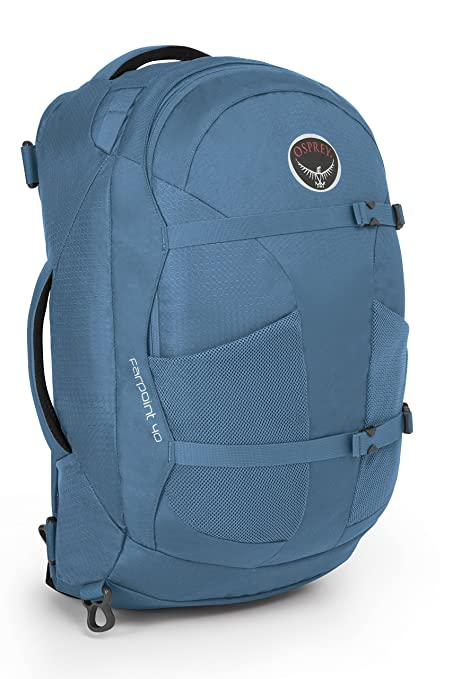 3adeb3a809d Osprey Packs Farpoint 40 Travel Backpack, Caribbean Blue, Small Medium