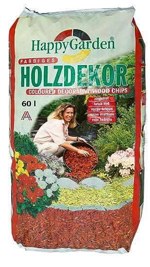 Holzdekor 60l mulch hackschnitzel 10 40mm Ø (0,25€/l) (rot ...