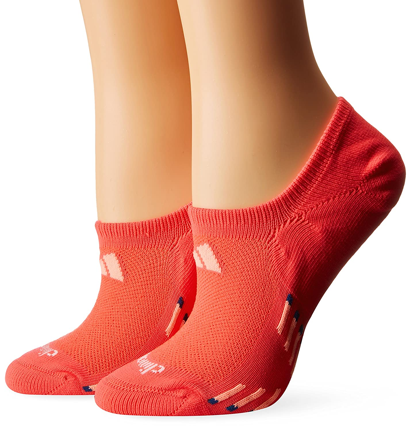 adidas Women's Climacool X III Super No Show Socks (2 Pack)