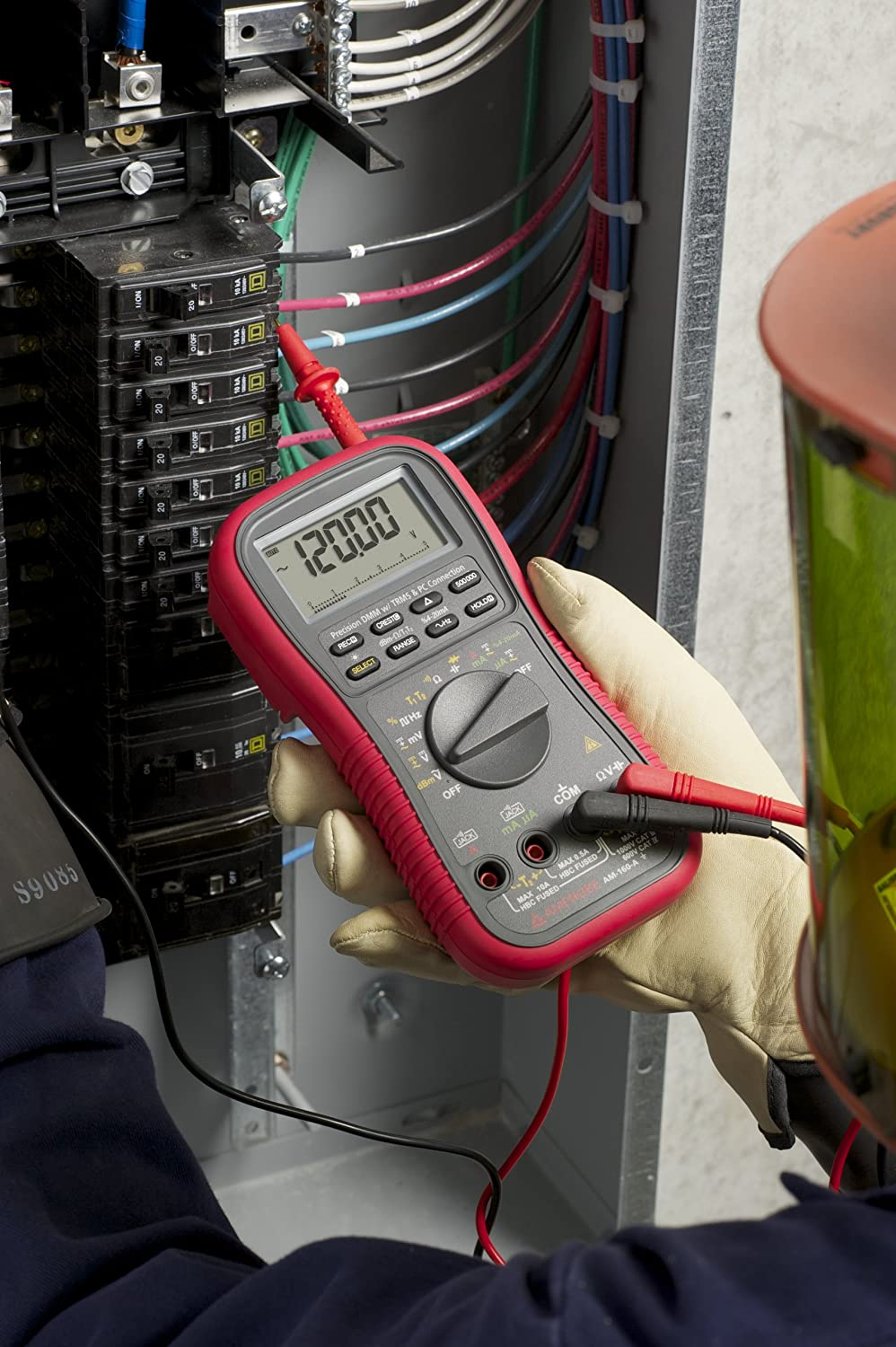 Amprobe Am 160 A Trms Multimeter With Temperature Multi Testers Residential Wiring Quiz Home Improvement