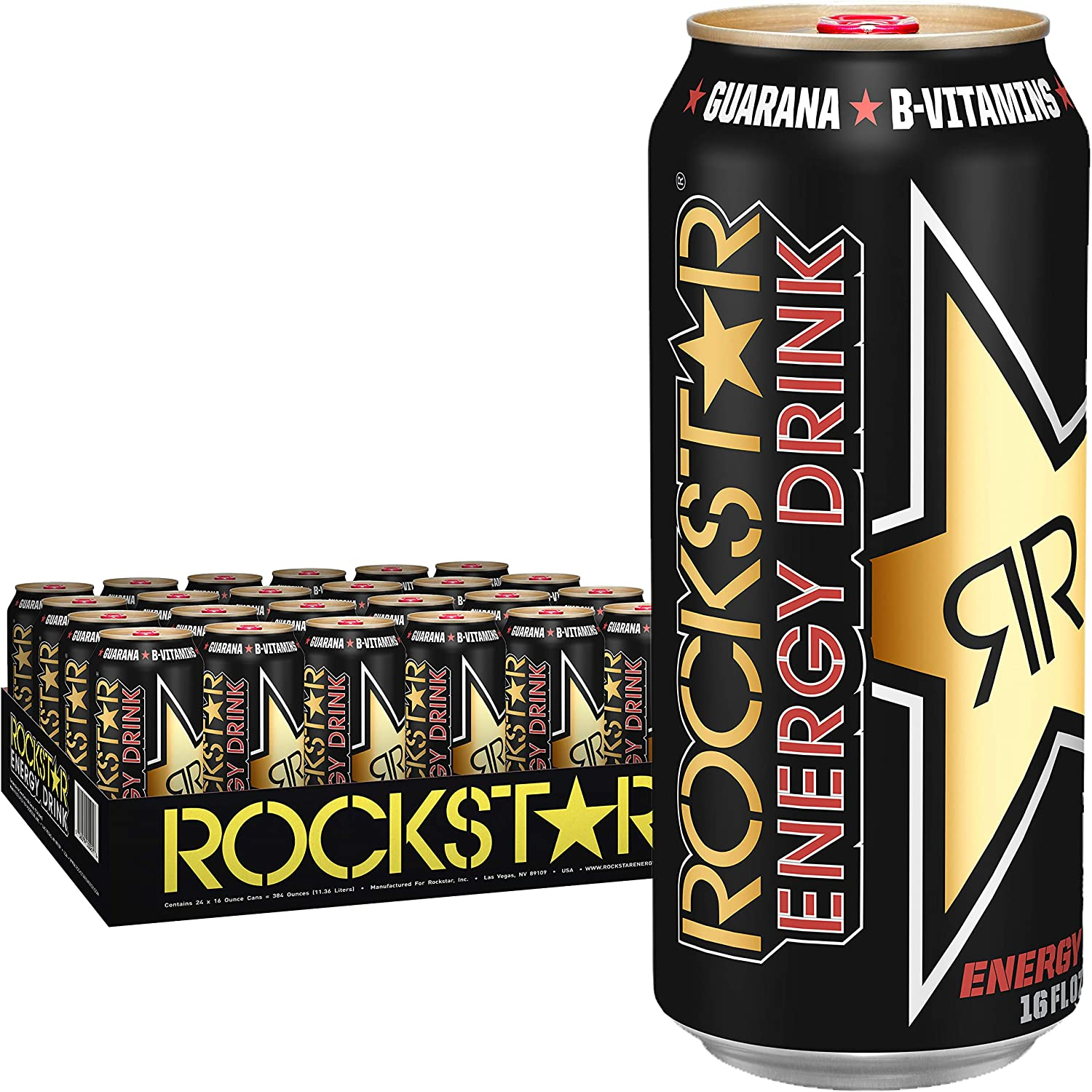 Rockstar Energy Drink, 16 Oz Cans (Pack Of 24)