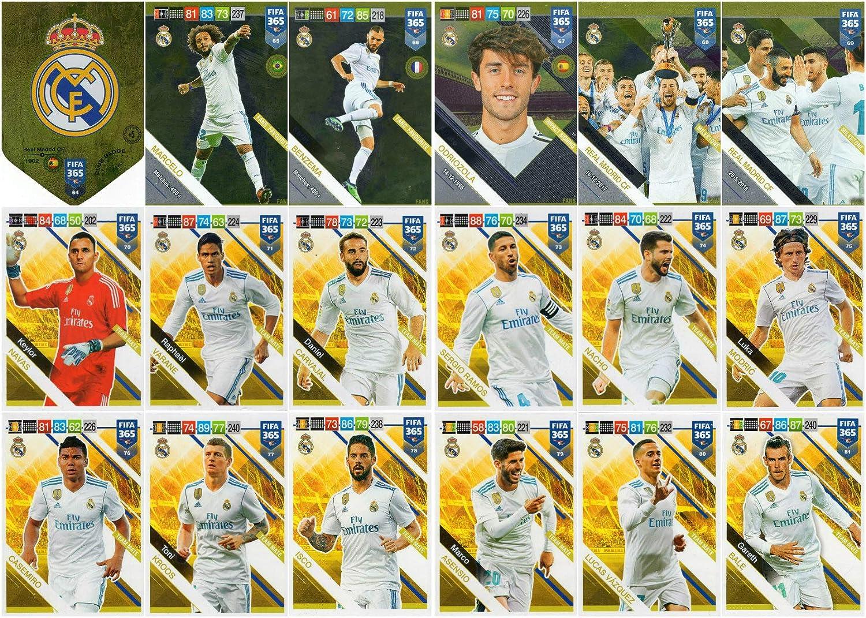 PANINI ADRENALYN XL FIFA 365 2019 Juego Completo de 18 Tarjetas de ...