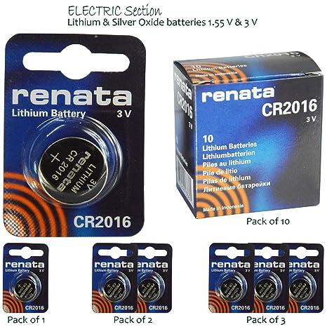 Renata - Pilas de botón de litio y de óxido de plata para relojes: Amazon.es: Electrónica