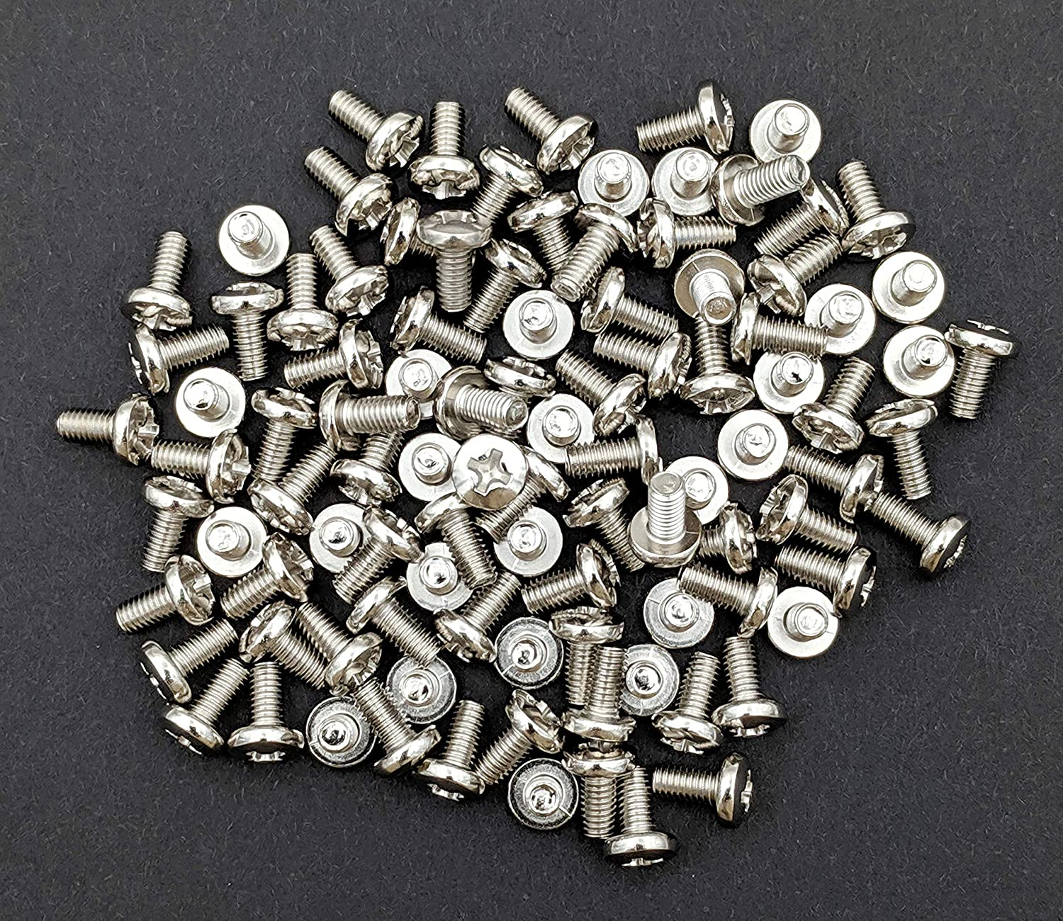 Screws for CB and 10 Meter Radios 20 Cover 20-Pack Nickel Plated Chrome Cabinet