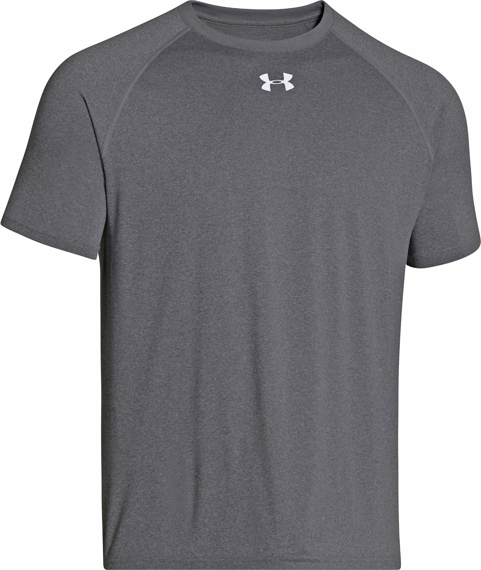 Under Armour Boy's Locker Short Sleeve T-Shirt, Carbon Heather/White, S
