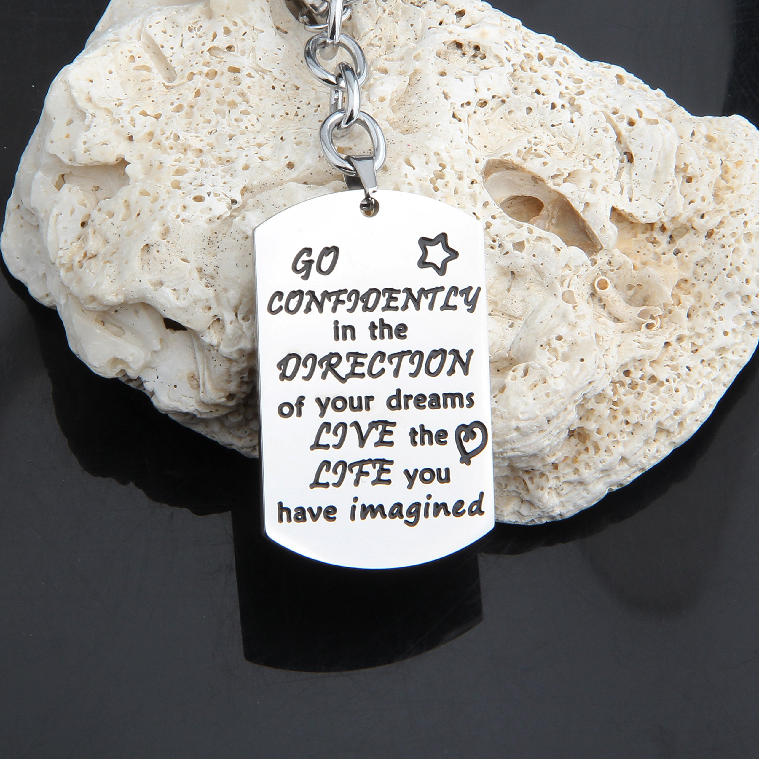 Gzrlyf Graduation Keychain Go Confidently In The Direction Of Your Dreams Keychain Inspirational Gift (keychain) by Gzrlyf (Image #3)