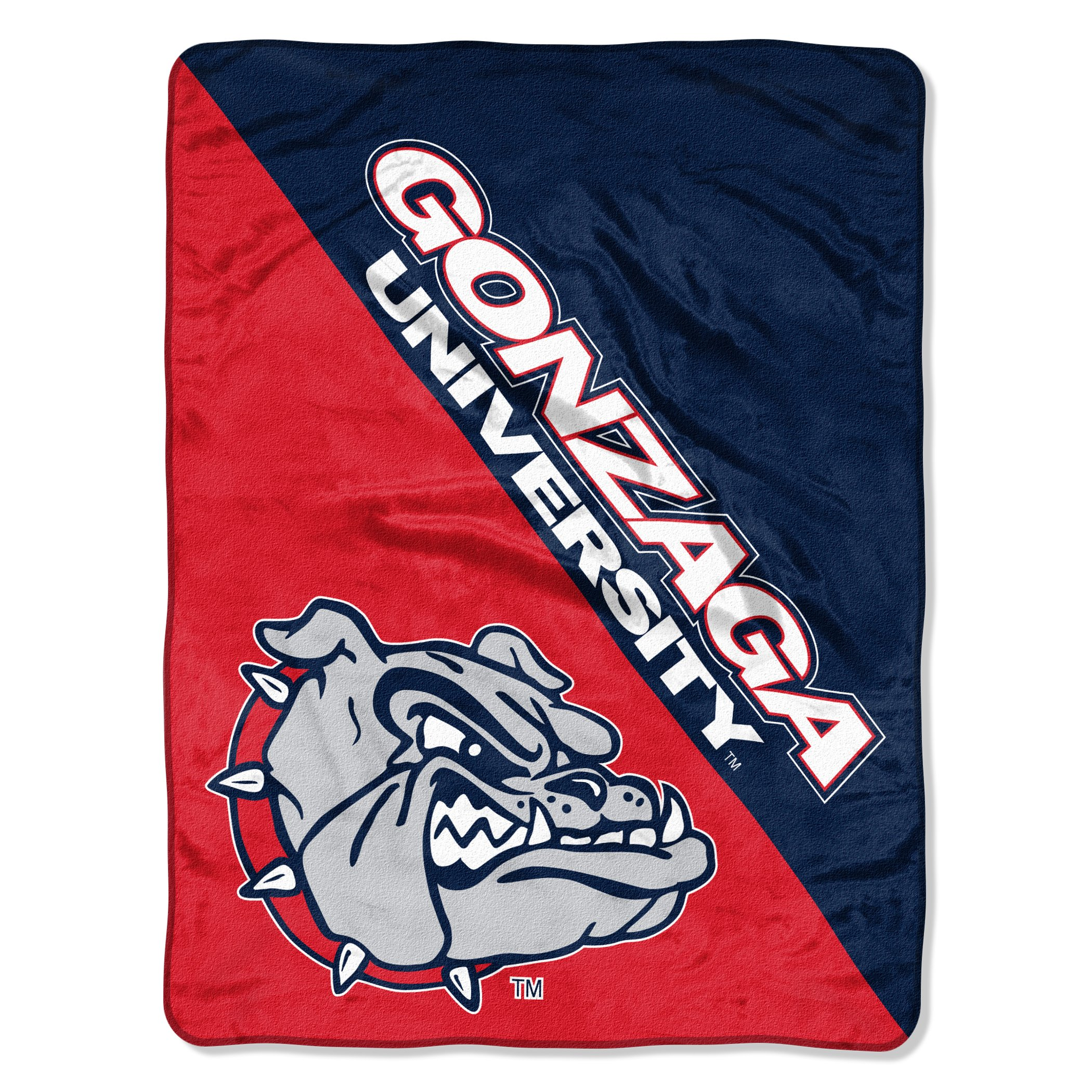 The Northwest Company Officially Licensed NCAA Gonzaga Bulldogs Halftone Micro Raschel Throw Blanket, 46'' x 60'', Multi Color by The Northwest Company