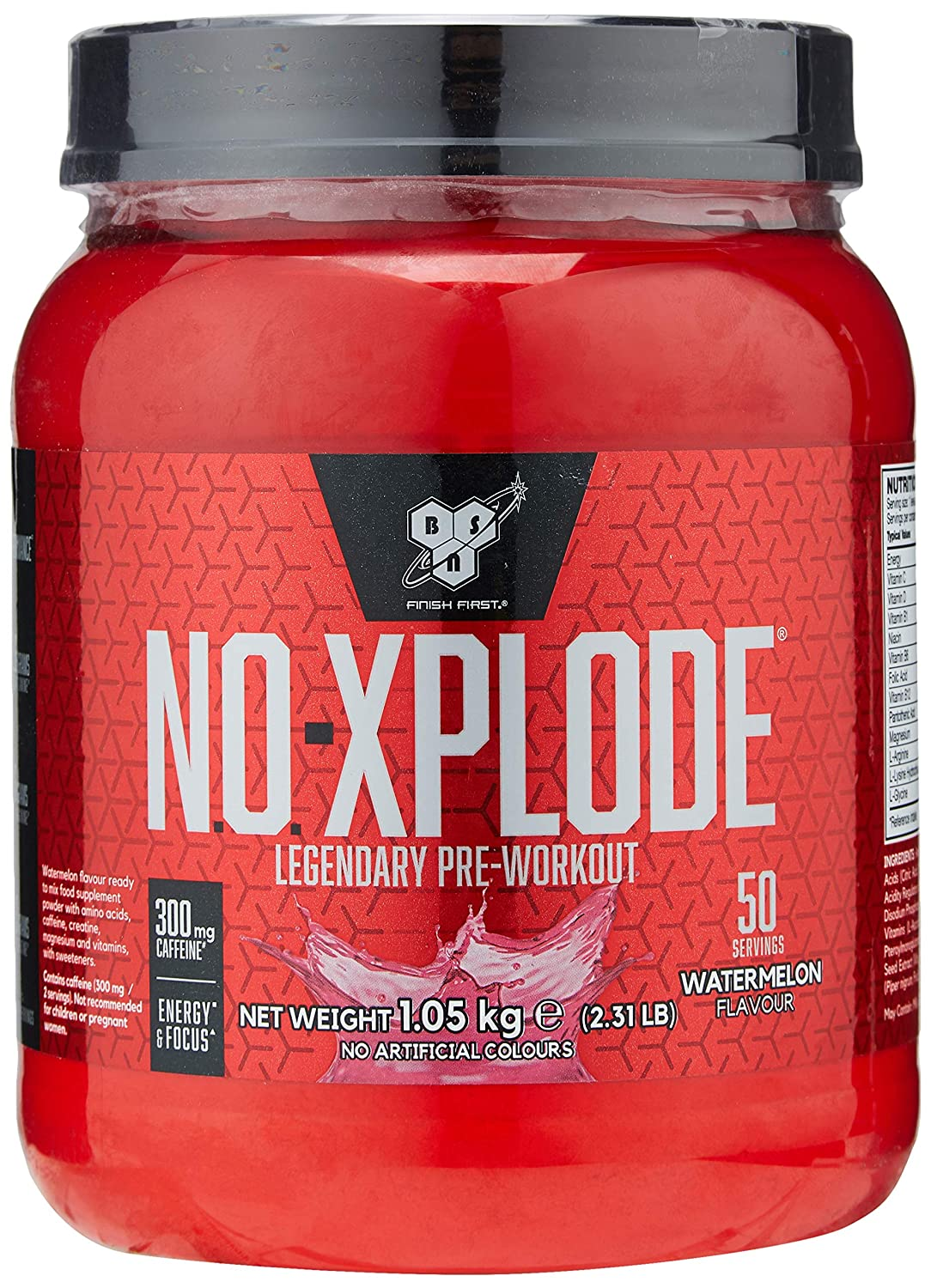 4bc31f43b7dd3 BSN NO-Xplode Pre Workout Powder with Creatine Monohydrate, Beta Alanine,  Caffeine, Vitamin D & Vitamin B Complex by BSN - Fruit Punch, 50 Servings,  ...