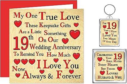 19 Anniversario Di Matrimonio.Il Nostro Xix Anniversario Di Matrimonio Set Di Portachiavi E