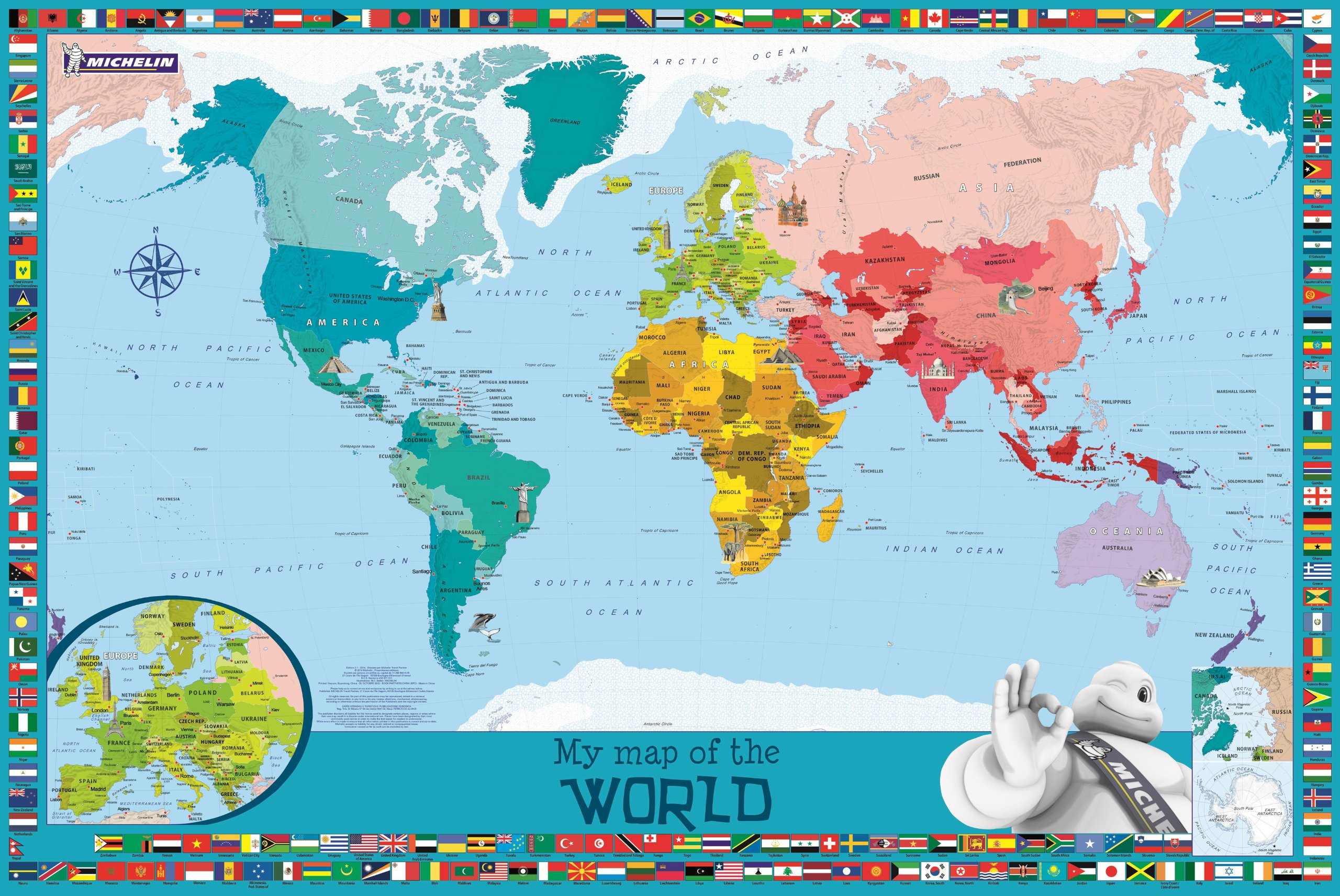 My map of the world childrens wall map map wall michelin my map of the world childrens wall map map wall michelin 9782067194014 amazon books sciox Image collections