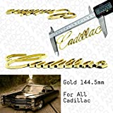 CADILLAC SET OF 4 GENUINE 24K GOLD PLATED VALVE CAPS FREE FAST SHIPPING