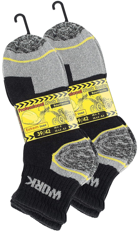 Cotton Prime 6 Paia calzini lavoro uomo rinforzati tallone e punta ideale per calzature Antinfortunistiche e//o scarponcini