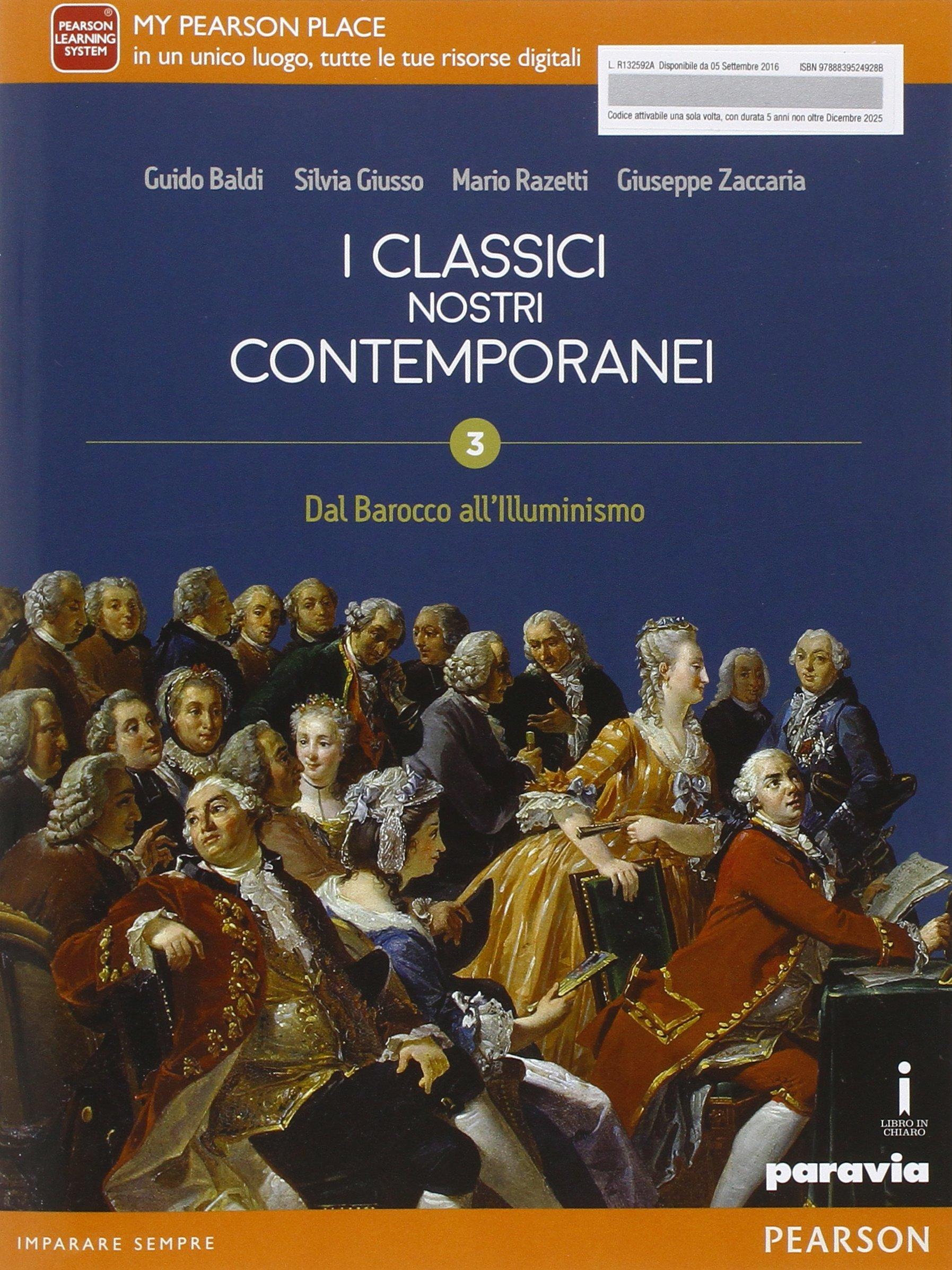 I classici nostri contemporanei 3, libro di letteratura per le superiori