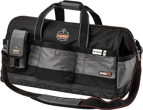 Ergodyne Arsenal 5808 Tool Bag, Long, Widemouth Opening, Rubber Base, 28-Pockets
