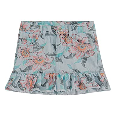 e7dd8cfb Levi's Girls' Little Denim Scooter Skirt, Floral Breeze, ...