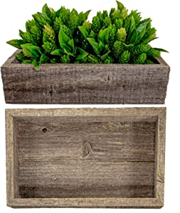 BarnwoodUSA Small Rustic Wooden Box | Best for Wood Flower Planter, Toilet Top Storage Boxes, and Table Decor Centerpieces