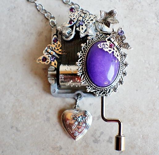 Amazon hand crank music box pendant plays amazing grace hand crank music box pendant plays quot aloadofball Images