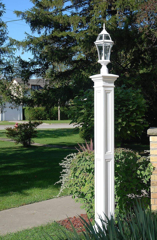 Amazon.com: Mayne 5838-WH Liberty Lamp Post Decorative Post Only ...