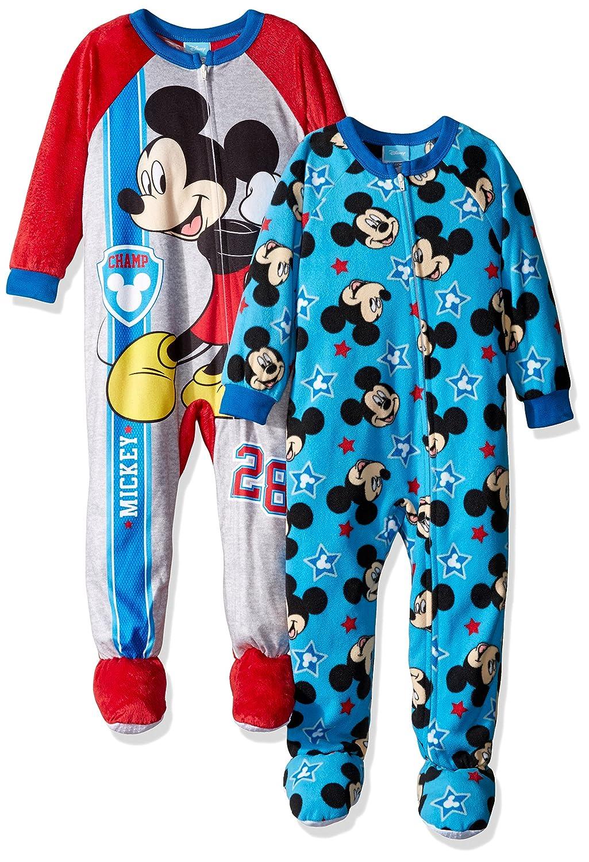 Disney Boys' Mickey Mouse 2-pack Blanket Sleeper Blue 4T 21MK310EBFDZ