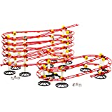 Quercetti Skyrail Rollercoaster Marble Run 413 Piece 14.5M/48 Feet Super Marble Race Ottovolante with 12 Jumbo Winners 3D Animal/Dinosaur Marbles Included