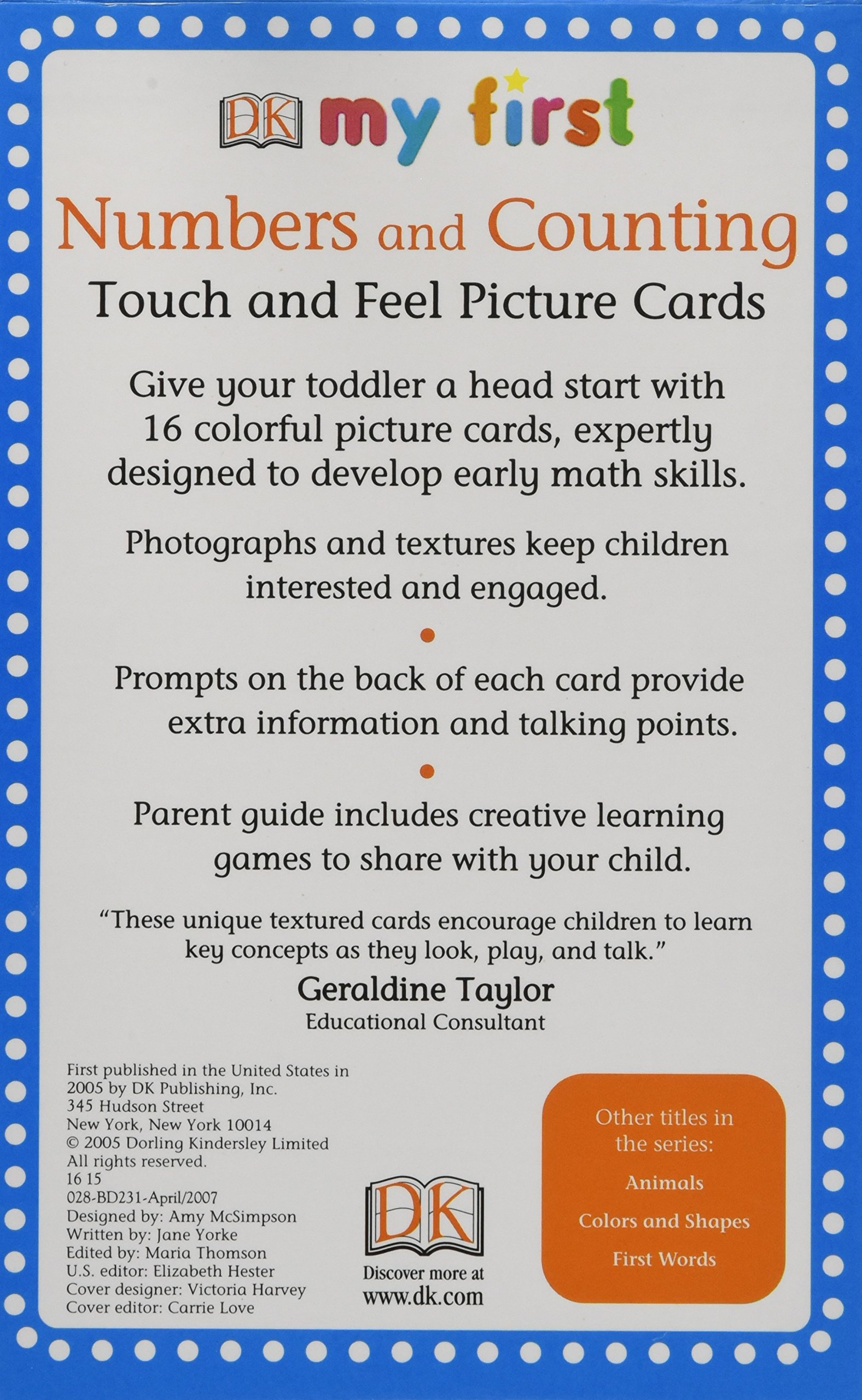 My First Touch & Feel Picture Cards: Numbers & Counting (MY 1ST T&F PICTURE CARDS) by DK Preschool (Image #2)