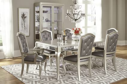 Strange Amazon Com Pulaski Diva 7Piece Dining Room Set Table With Home Interior And Landscaping Ponolsignezvosmurscom