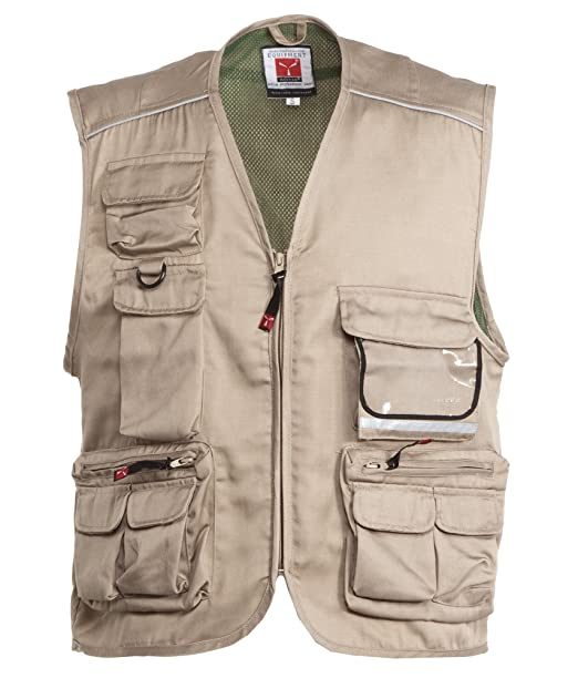 Giacca da Lavoro Smanicato Gilet Estivo con Composizione Multitasche  Pocket  Amazon.it  Abbigliamento 9ca971a4d748