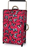 IT Luggage World's Lightest 79cm Two Wheel Trolley Suitcase Red Butterfly