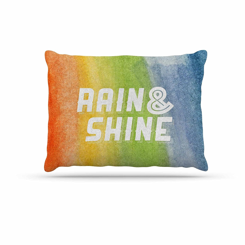 KESS InHouse Kess Original Rain & Shine Rainbow Abstract Dog Bed, 30  x 40